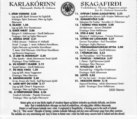 Dísir vorsins_1995_bakhlið